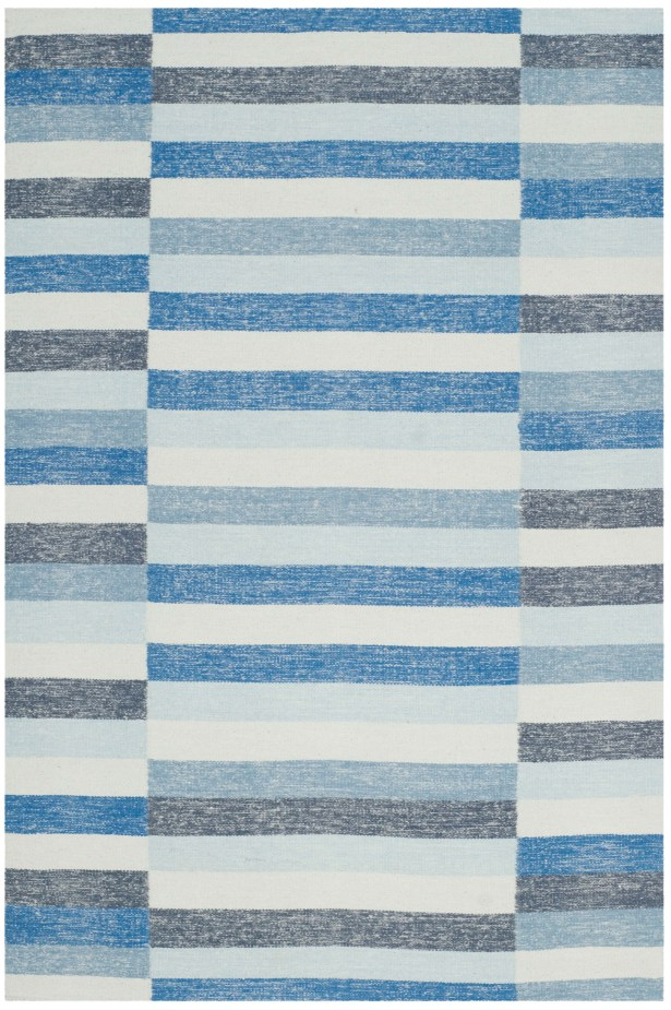 Mata Kilim Hand-Woven Wool Blue Area Rug Rug Size: Rectangle 8' x 10'