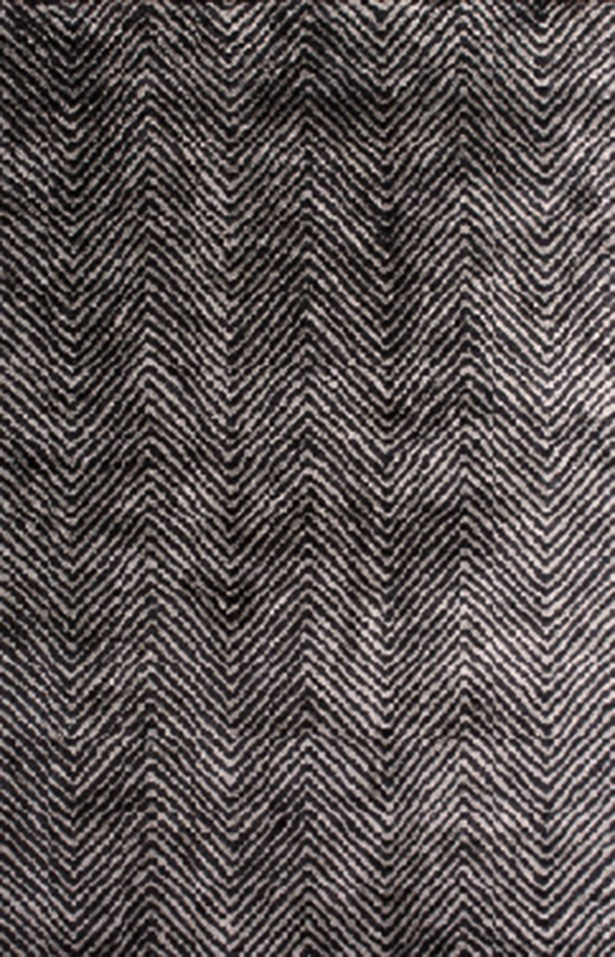 Nasir Hand-Woven Black Area Rug Rug Size: Rectangle 3' x 5'