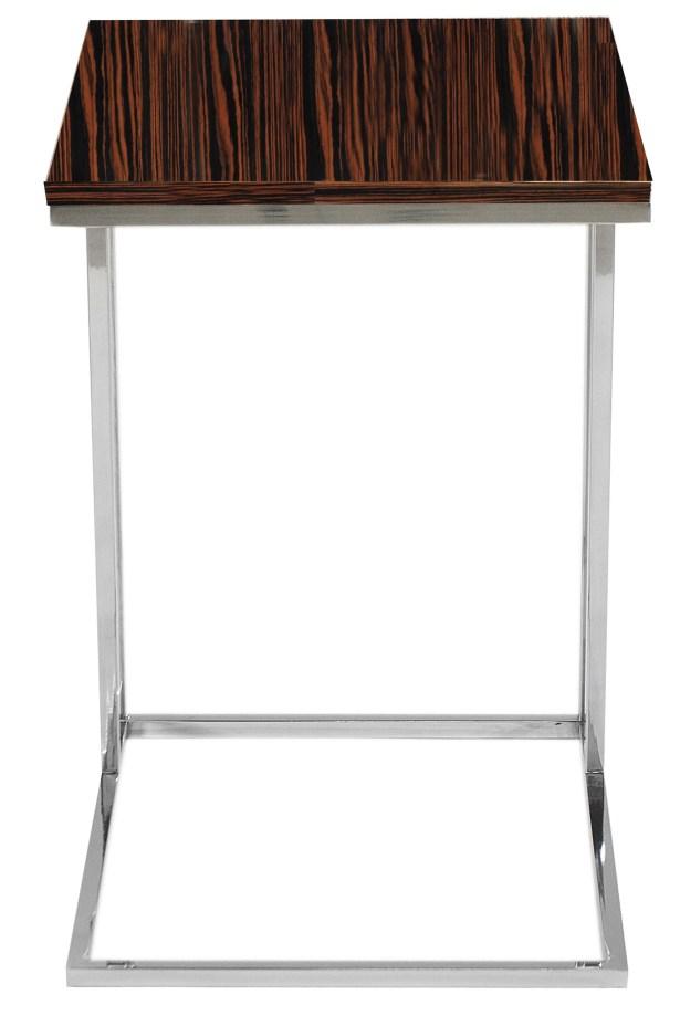 Cashin End Table Table Base Color: Silver, Table Top Color: Ebony