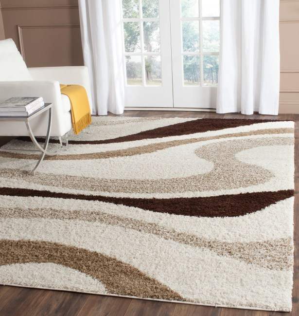 Driffield Ivory / Brown Area Rug Rug Size: Rectangle 8' x 10'