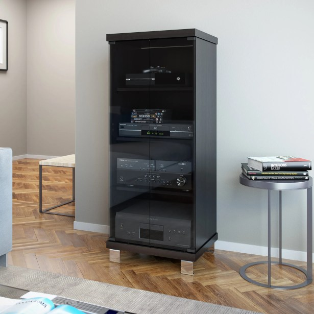 5-Drawer Wood Multimedia Cabinet