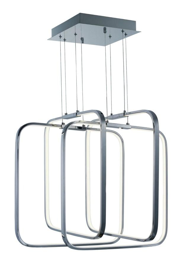 Hesperus 4-Light LED Square/Rectangle Chandelier