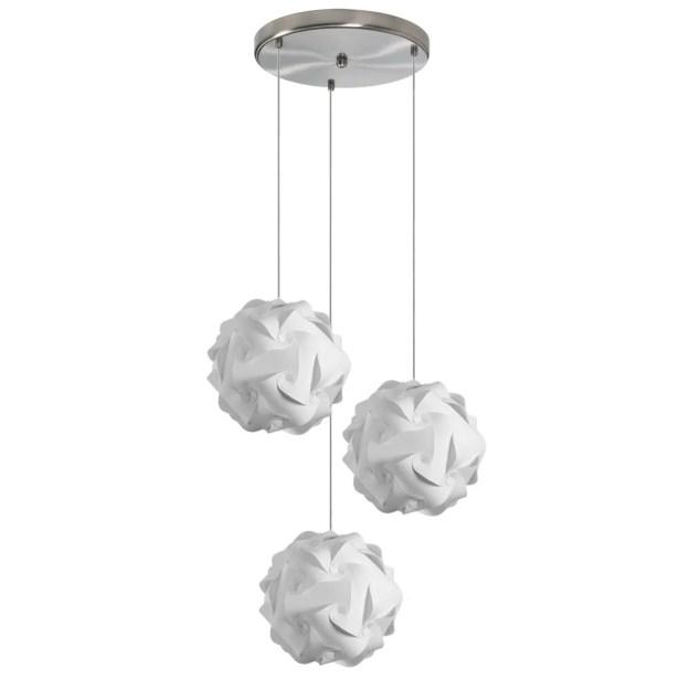 Corvi 3-Light Pendant Shade Color: White