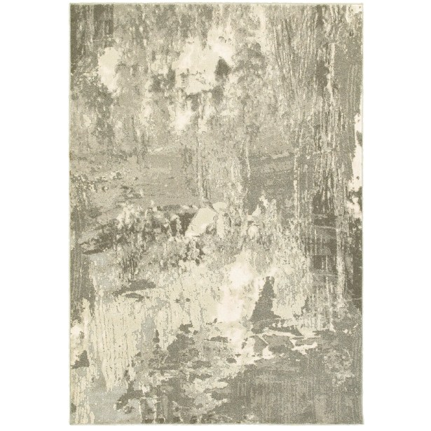 Leonidas Ivory/Gray Area Rug Size: Rectangle 9'10