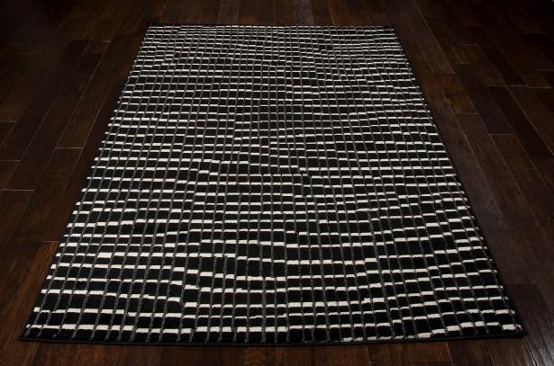 Alcanza Black Area Rug Rug Size: Rectangle 3'11