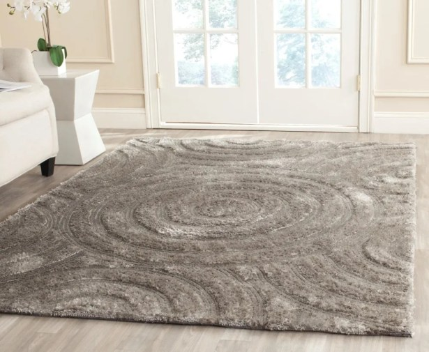 Minnich Hand-Tufted Silver Area Rug Rug Size: Rectangle 8' x 10'