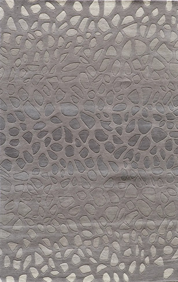 Alexina Hand-Tufted Silver Area Rug Rug Size: Rectangle 8' x 10'