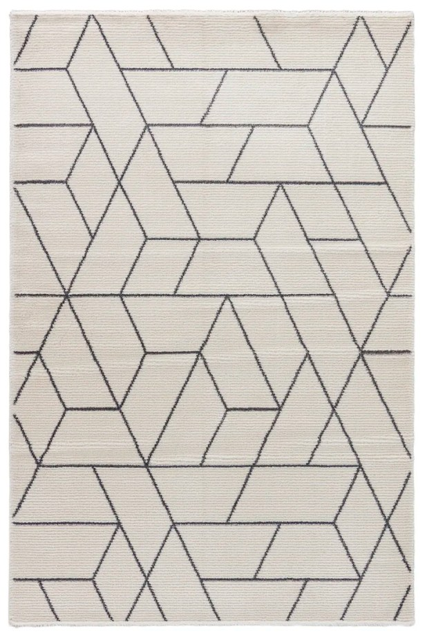 Lyme Marshmallow/Charcoal Gray Area Rug Rug Size: Rectangle 2' x 3'11