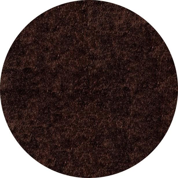 Ciera Hand-Tufted Brown Solid Area Rug Rug Size: Round 4'