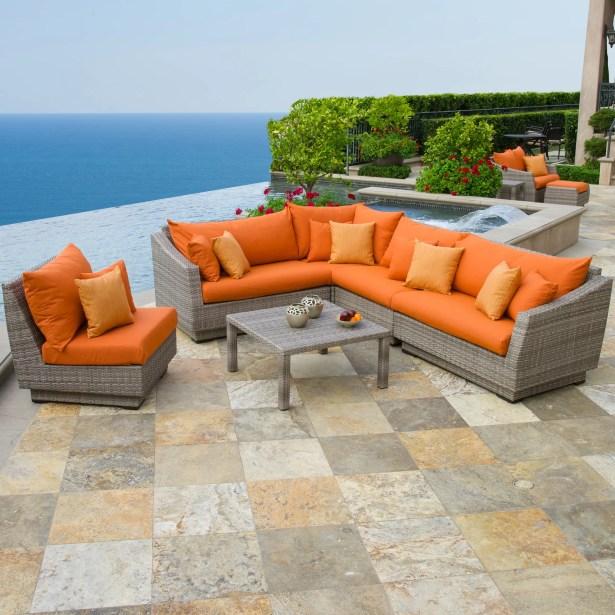 Castelli 6 Piece Sectional Set with Cushions Fabric: Tikka Orange