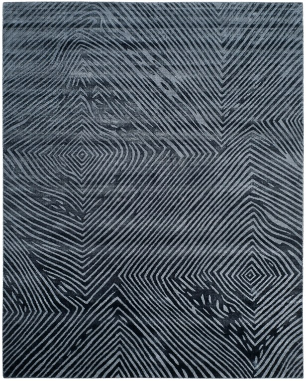 Moorhouse Hand-Woven Blue/Gray Area Rug Rug Size: Rectangle 8' x 10'