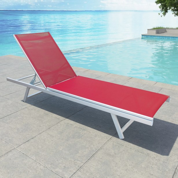 Sharpsburg Reclining Chaise Lounge Color: Coral Red