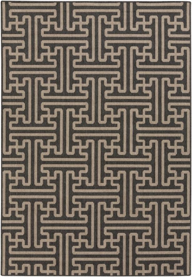 Borquez Black Indoor/Outdoor Area Rug Rug Size: Rectangle 10'9