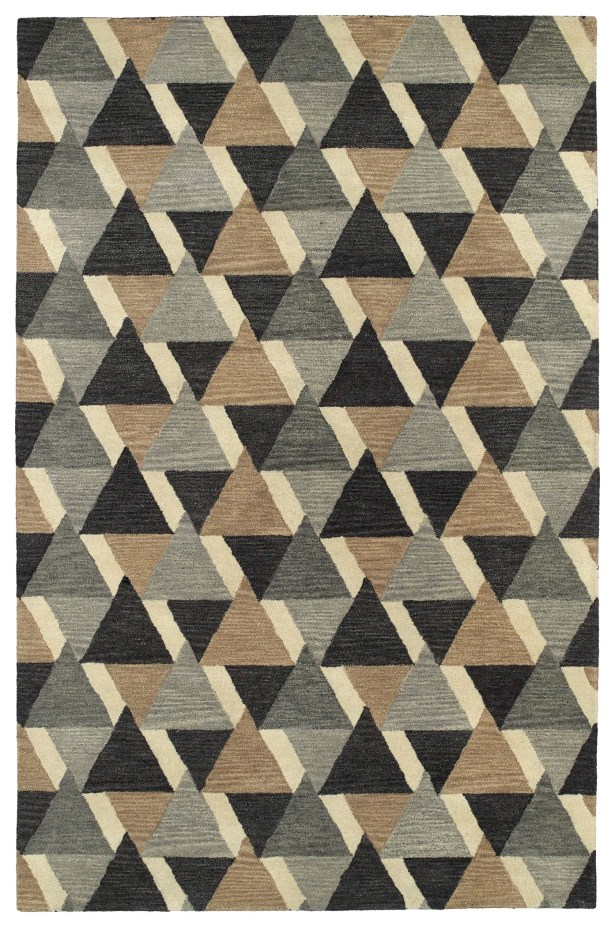 Dresden Hand Tufted Gray/Brown Area Rug Rug Size: Rectangle 3'6