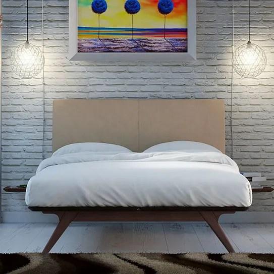 Hannigan Upholstered Platform Bed Color: Latte, Size: Full/Double