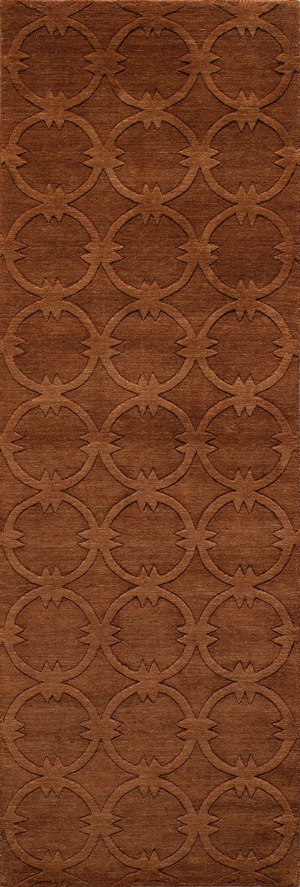 Amacker Hand-Woven Copper Area Rug Rug Size: Rectangle 2' x 3'