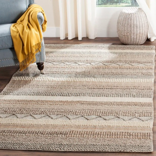 Daytona Beach Hand-Tufted Beige Area Rug Rug Size: Runner 2'3