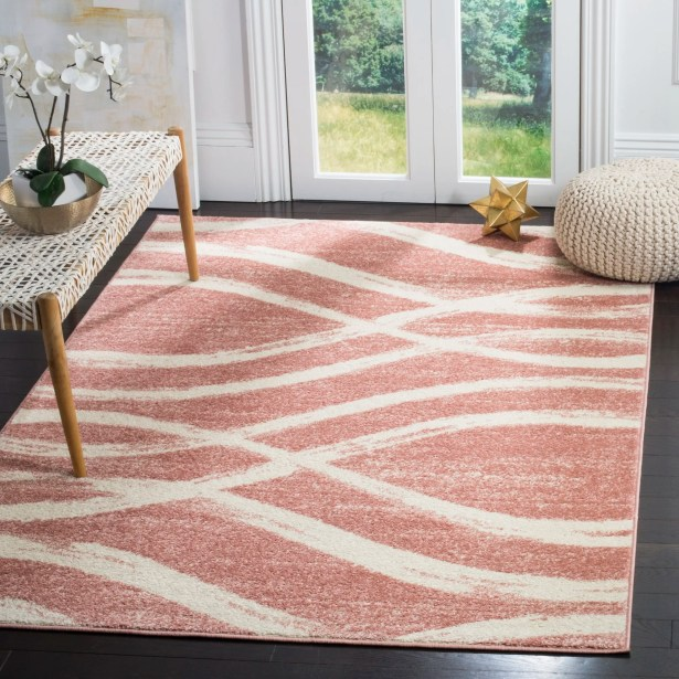 Graciano Pink/Beige Area Rug Rug Size: Rectangle 5'1
