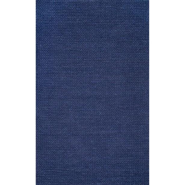 Berkman Hand-Woven Navy Area Rug Rug Size: Rectangle 5' x 8'