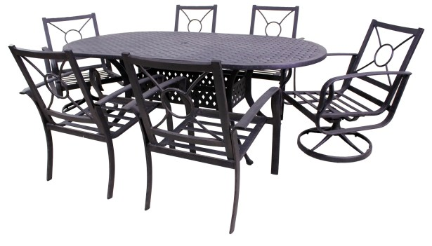Waynesburg Oval Dining Set with Cushions