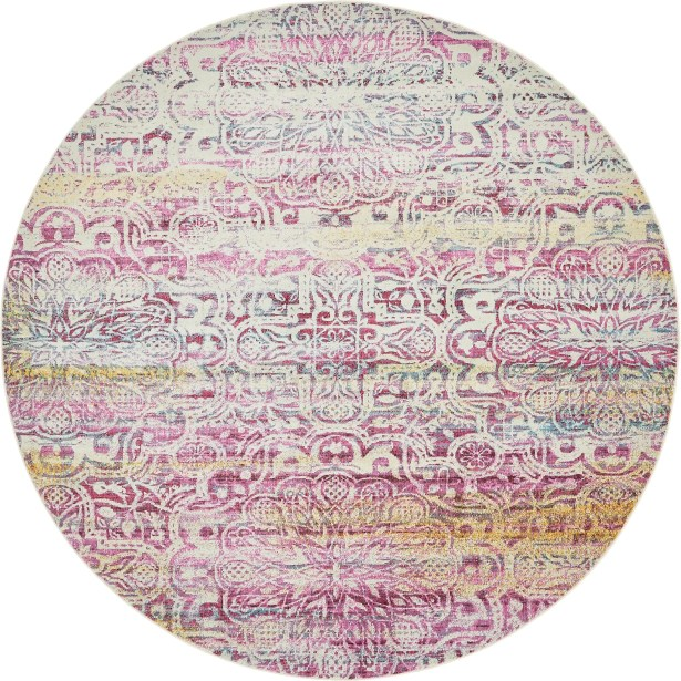 Lonerock Pink Area Rug Rug Size: Round 8'4