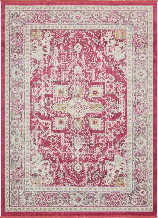 Lonerock European Pink Area Rug Rug Size: Rectangle 10' x 13'