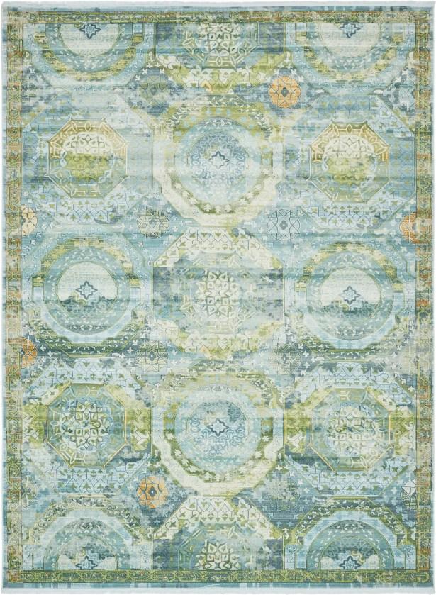 Lonerock Green/Light Blue Area Rug Rug Size: Rectangle 10' x 13'