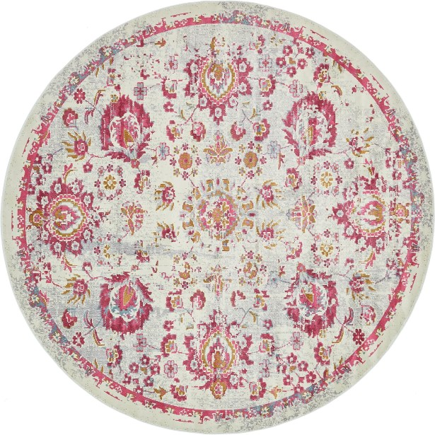 Lonerock Smooth European Pink Area Rug Rug Size: Round 8'4