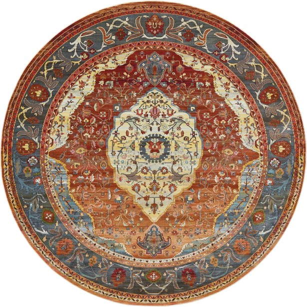 San Marcos Rust Red Area Rug Rug Size: Round 8'4