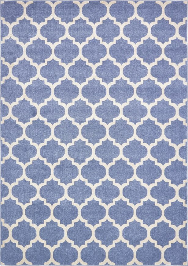Harding Light Blue Area Rug Rug Size: Rectangle 8' x 11'