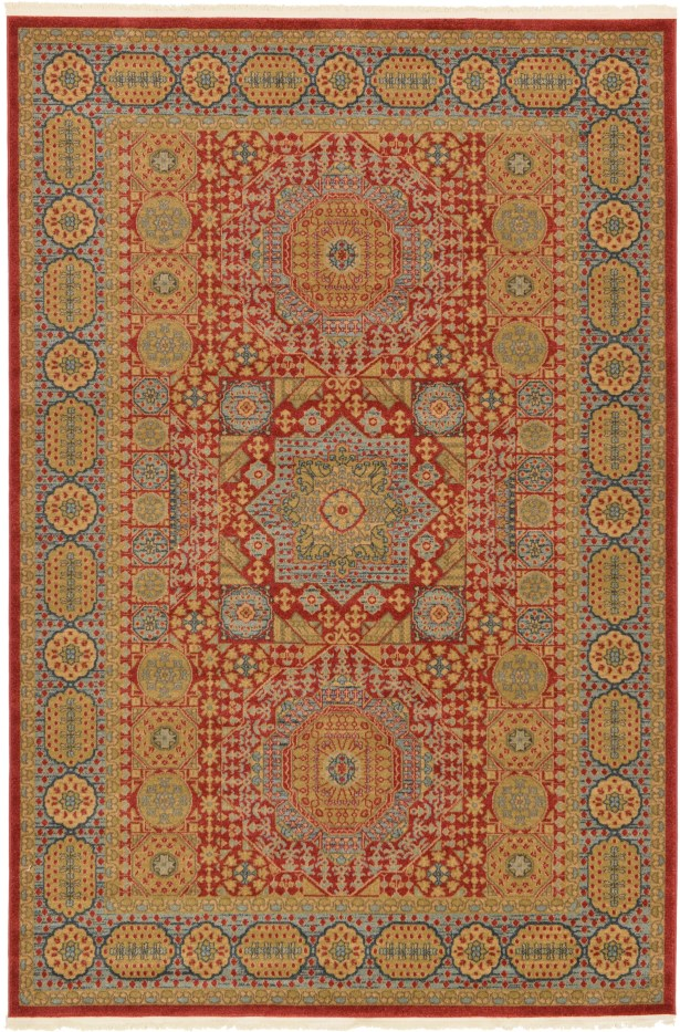 Laurelwood Light Red Area Rug Rug Size: Rectangle 6' x 9'