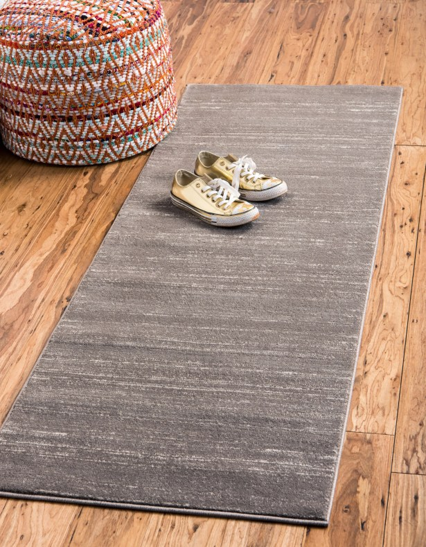 Uptown Madison Avenue Gray Area Rug Rug Size: Runner 2'2