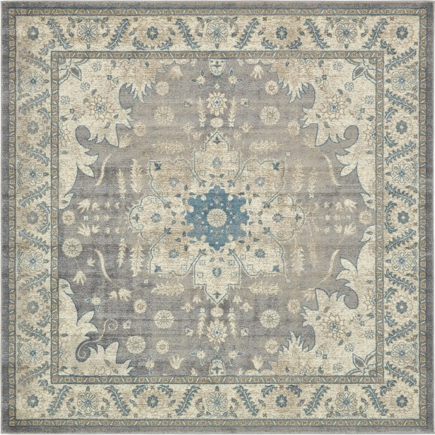 KerensaGray Area Rug Rug Size: Square 8'