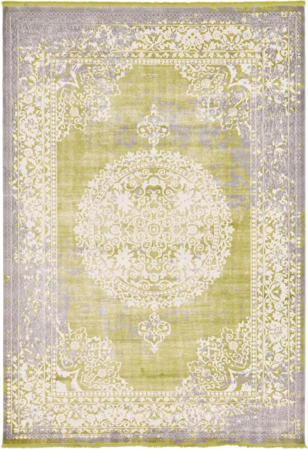Omri Light Green Area Rug Rug Size: Rectangle 8' x 11'