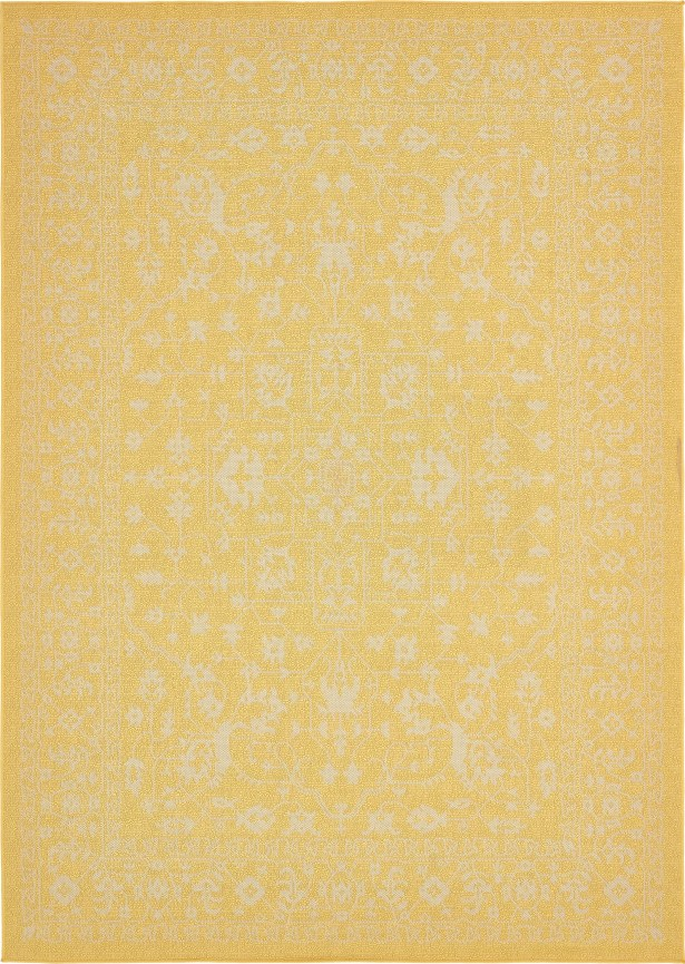 Arbor Glen Yellow Outdoor Area Rug Rug Size: Rectangle 9' x 12'
