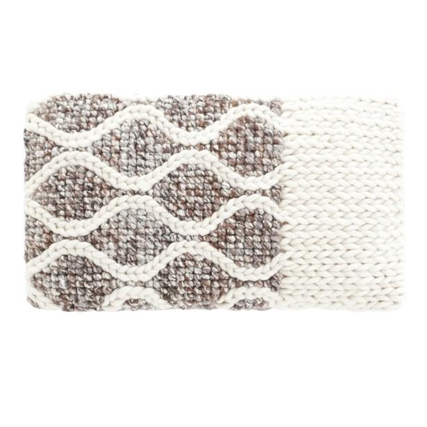 Mangas Space Rhombus Wool Lumbar Pillow Color: Ivory