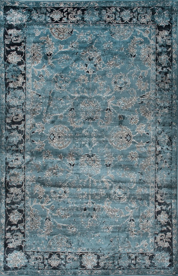 Spurlock Vintage Green Area Rug Rug Size: Rectangle 7'8