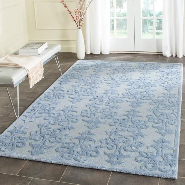 Dickinson Hand-Tufted Blue Area Rug Rug Size: Rectangle 8' x 10'