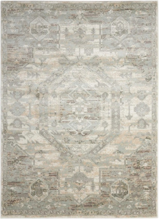 Menthe Gray/Ivory Area Rug Rug Size: Rectangle 7'10