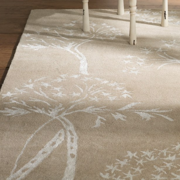 Mandy Hand-Tufted Sand / Ivory Area Rug Rug Size: Square 5'