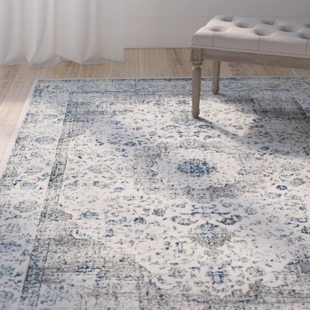 Elson Gray/Gold Area Rug Rug Size: Rectangle 4' x 6'