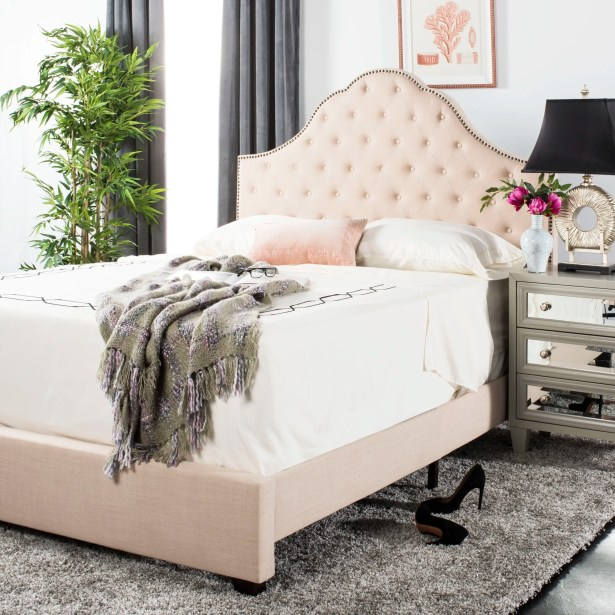 Boniface Upholstered Platform Bed Size: Full, Color: Beige