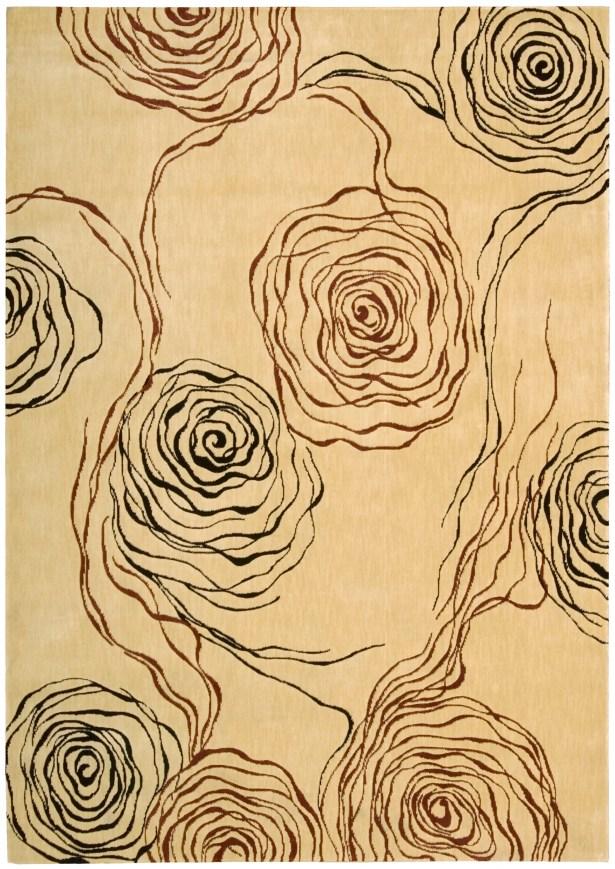 Tarah Floral Ivory Area Rug Rug Size: Rectangle 7'9
