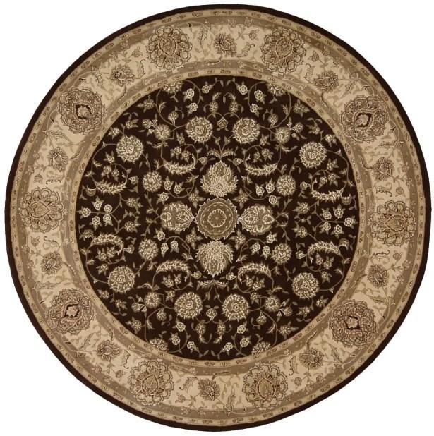 Buckhorn Hand Woven Wool Espresso Indoor Area Rug Rug Size: Round 4'