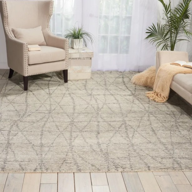 Aroon Hand-Knotted Stone Area Rug Rug Size: Rectangle 2'3