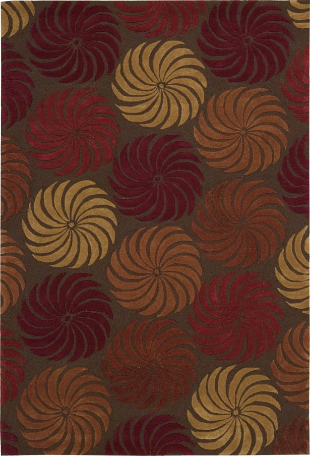 Gemini Hand-Tufted Red/Brown Area Rug Rug Size: Rectangle 7'3