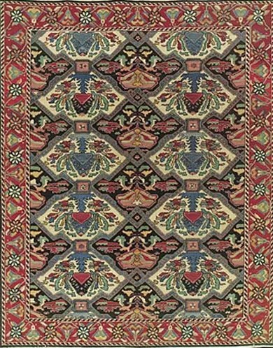 Pierson Hand-Woven Red/Green Area Rug Rug Size: Rectangle 5'10