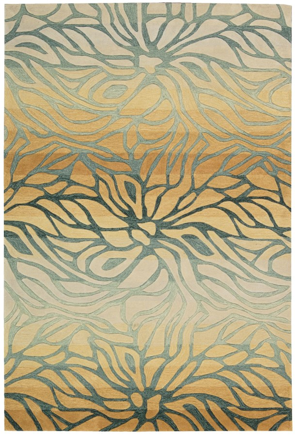 Dovewood Hand-Tufted Gold/Gray Area Rug Rug Size: Rectangle 8' x 10'6