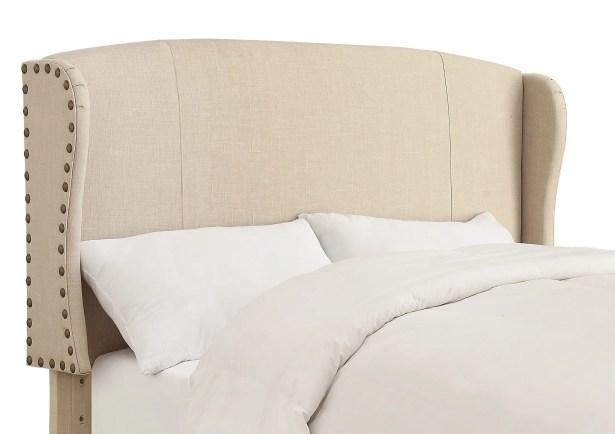 Progreso Upholstered Wingback Headboard Upholstery: Espresso, Size: Queen