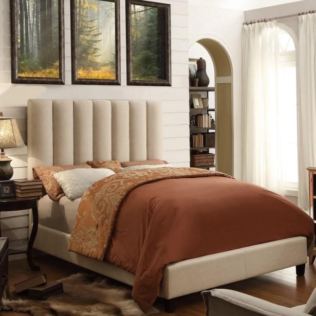 Mcmaster Queen Upholstered Panel Bed Color: Beige